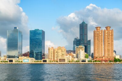 Gorgeous Kaohsiung skyline, Taiwan. 85 Sky Tower