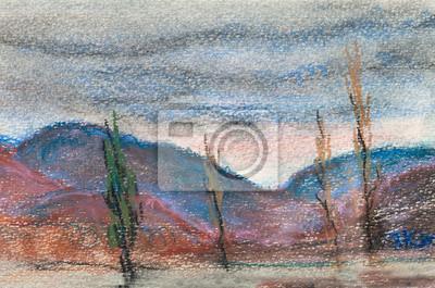 Obraz Góry i chmury