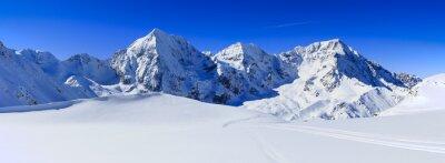 Obraz Góry Zima, panorama - włoskie Alpy