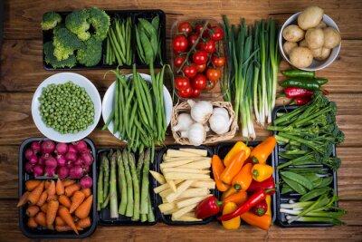 Obraz gospodarstwa świeże warzywa