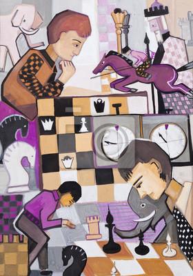 Obraz Gra w szachy