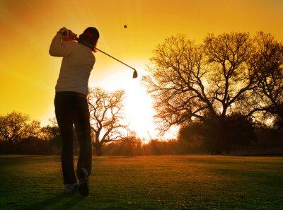 Obraz grać w golfa na słońce udar