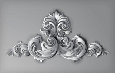 Obraz Grafika 3D Flourishes