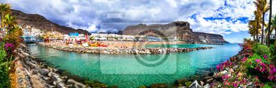 Gran Canaria holidays - beautiful Puerto de Mogan, popular tourist attraction. Canary islands