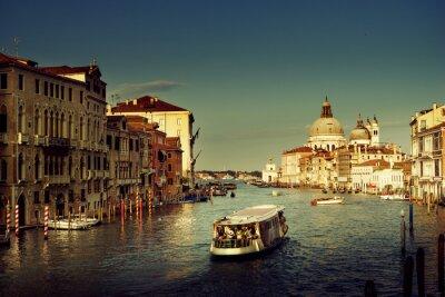 Obraz Grand Canal and Basilica Santa Maria della Salute, Venice, Italy