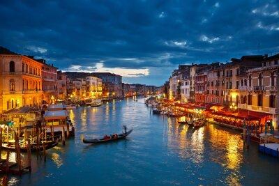 Obraz Grand Canal w nocy, Wenecja