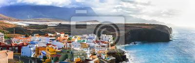 Grand Canary island. traditional architecture, colorful houses,Puertito de Sardinia.