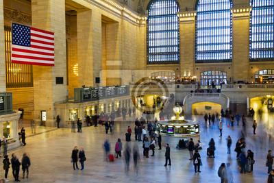 Grand Central Station w Nowym Jorku podróżujących