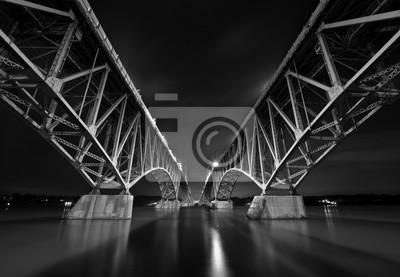 Grand Island Bridges B & W
