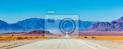 Obraz Gravel road in Namibia - panorama - Africa
