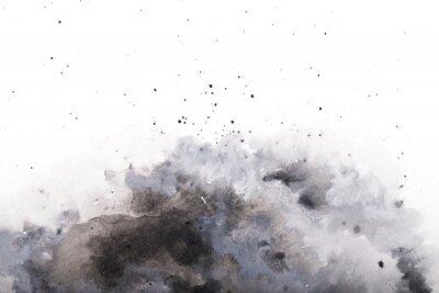 Obraz  gray watercolor