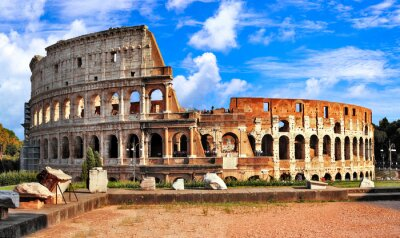Great Colosseum or Coliseum- Flavian Amphitheatre. landmarks of Rome, Italy