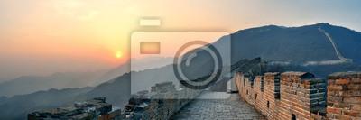Great Wall zachód słońca panorama