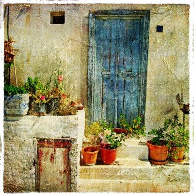 Obraz greckie ulice, artystyczny obraz