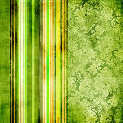 green rocznika paski papieru