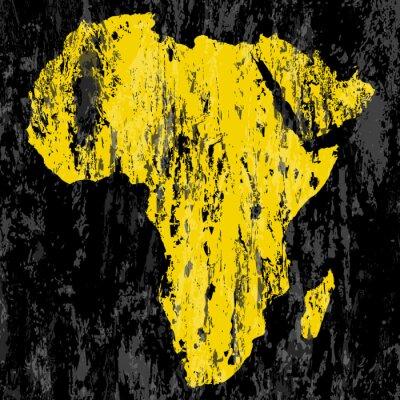 Obraz grunge Africa map