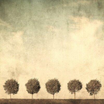 Obraz grunge obraz drzewa