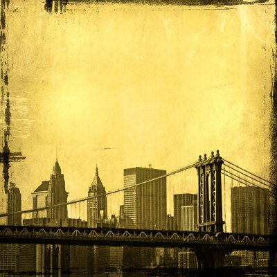 grunge obraz Nowego Jorku