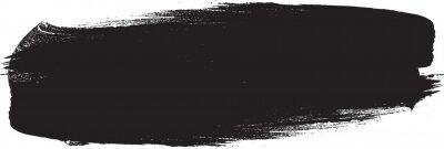 Obraz Grunge Paint stripe . Vector brush Stroke . Distressed banner . Black isolated paintbrush collection . Modern Textured shape . Dry border in Black