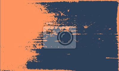 Obraz Grunge tekstury tła. Streszczenie pomarańczowy ciemny niebieski stary szorstki retro.