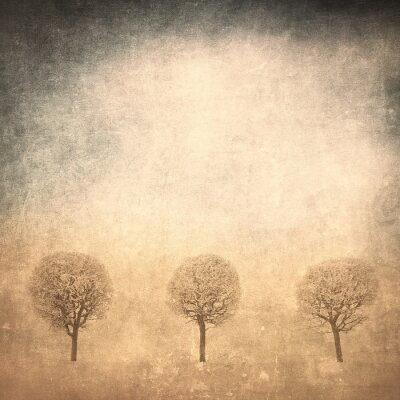 Obraz grunge wizerunek drzewa na tle grunge