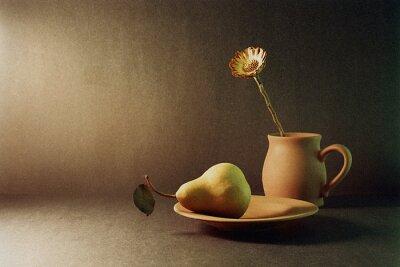 Obraz gruszki i kwiat