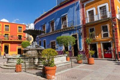Obraz Guanajuato City historic center. Colorful homes built on hillside. Guanajuato State, Mexico.