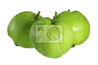 Guawa izolowany / guawa samodzielnie na białym tle.