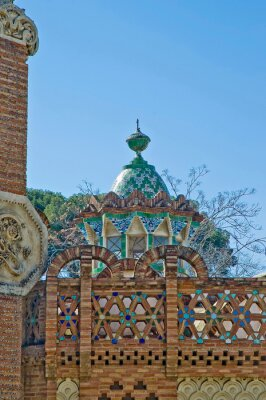 Guell country house in Barcelona, Spain