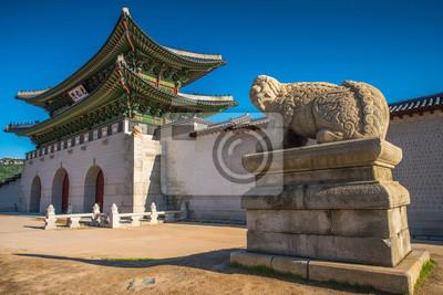 .Gyeongbokgung Palace w Seulu w Korei Południowej.