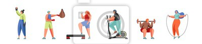 Gym and sport vector flat isolated illustration