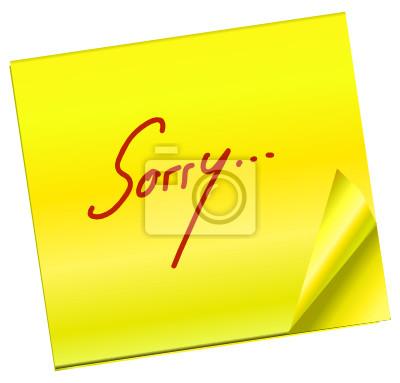 Haftnotiz - Sorry