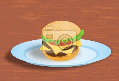 Hamburger na talerzu