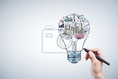 Obraz Hand drawing business idea concept.