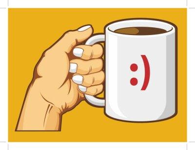 Obraz Hand Holding Kubek kawy
