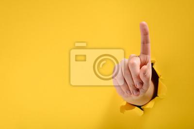 Obraz Hand pointing up
