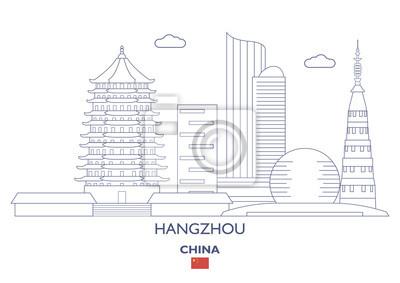 Hangzhou City Skyline, Chiny