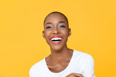 Obraz Happy smiling African American woman