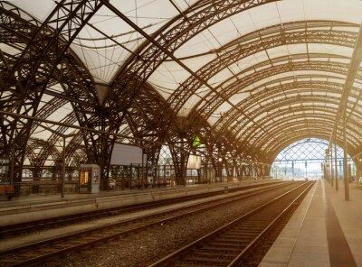 Obraz Hauptbahnhof Drezno, alte bahnhofshalle