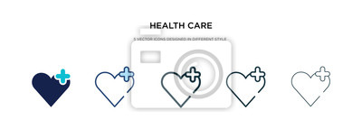 Obraz health care icon in different style vector illustration. two colored and black health care vector icons designed in filled, outline, line and stroke style can be used for web, mobile, ui