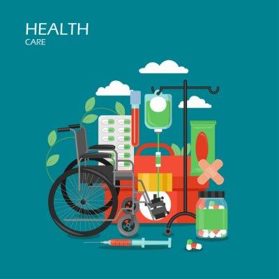 Health care vector flat style design illustration