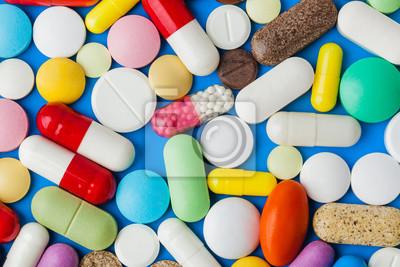Obraz Heap of pills - medical background