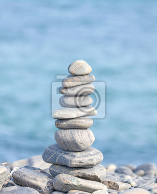 Heap of stones, Zen spa concept background.