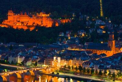 Obraz Heidelberg w nocy letniej