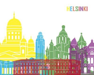 Obraz Helsinki skyline pop
