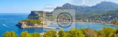 High quality panorama of the Port de Soller, Majorca, Spain.