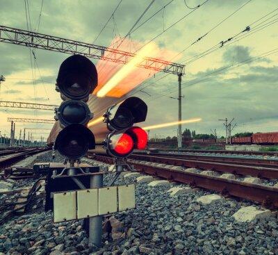 Obraz High-speed train with motion blur