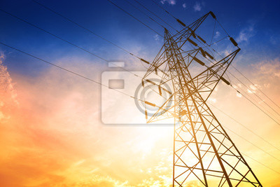 Obraz High voltage post or High voltage tower