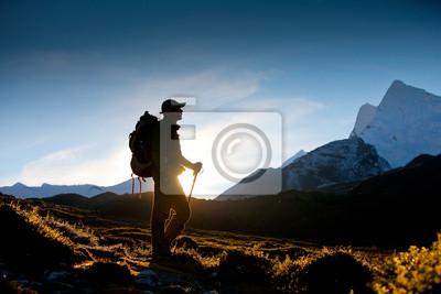 Obraz Hiker w Himalaje