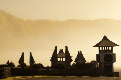 Hinduskiej świątyni obok Mt. Bromo, Indonezja